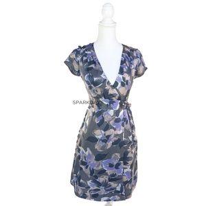 Banana Republic 100% Silk Floral Wrap Dress | 00p